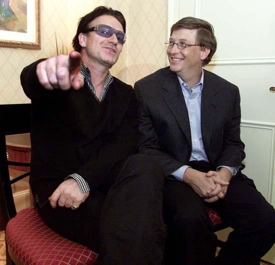 Bono's buddy Bill Gates