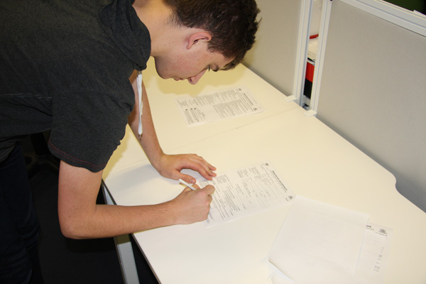 Sign and put a date on your enrolment form