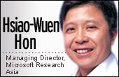 Hsiao-Wuen Hon, managing director, Microsoft Research Asia