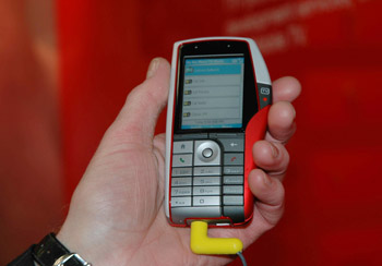 A picture of Movio's Trilogy smartphone
