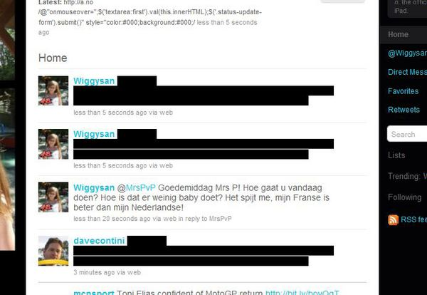 Twitter hit by JavaScript hack image