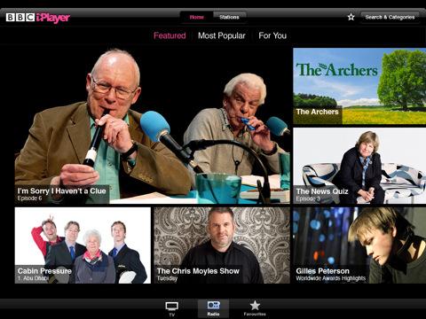 BBC iPlayer app