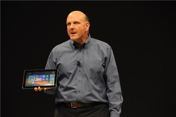 Steve Ballmer unveils the Surface tablet