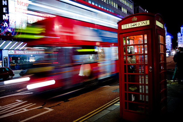 London bus and contactless payments