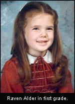 Raven Alder in first grade
