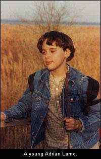 A young Adrian Lamo