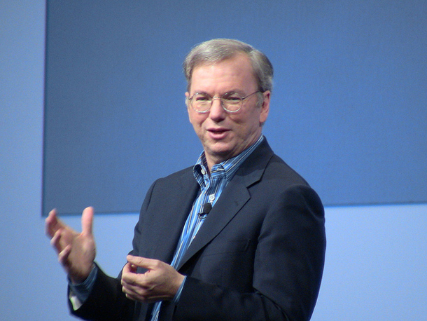 Eric Schmidt, Google's chairman, told delegates at the Mobile World Congress that operating systems Google Chrome and Android would be brought together