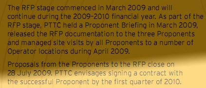 PTTC 2009-10 corporate plan