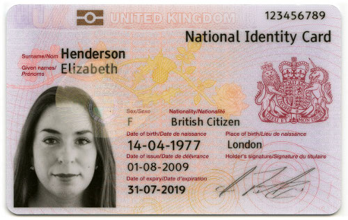 ID cards have been scrapped by the coalition government