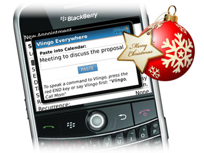BlackBerry plus Vlingo app