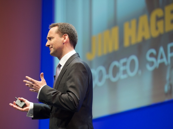 SAP co-CEO Jim Hagemann Snabe says on-demand is one of the major elements of the company's hybrid strategy