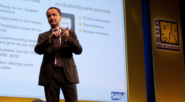 SAP co-CEO Jim Hagemann Snabe addresses delegates at the UK & Ireland SAP user conference in Manchester