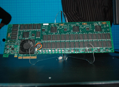 Solid-state storage on a PCI Express card