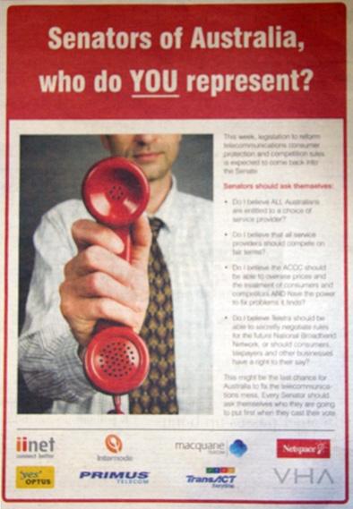 ISPs' ad appeal to senators