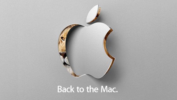 Apple's Back to the Mac invitation
