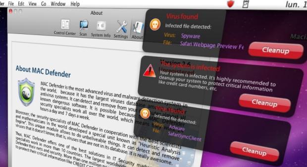 Mac Defender fake antivirus program image