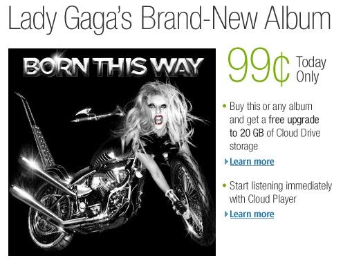 Lady Gaga album offer on Amazon