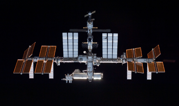 A recent shot of the International Space Station