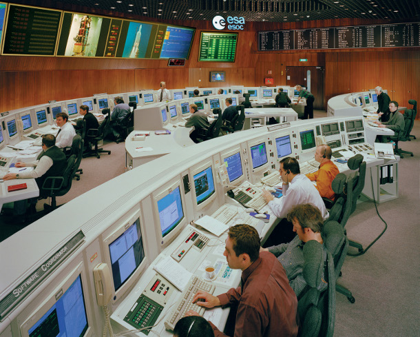 The Main Control Room at ESA's Space Operations Centre in Darmstadtt