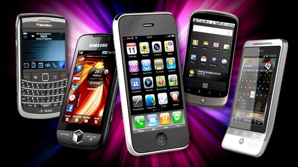 Smartphones app downloads