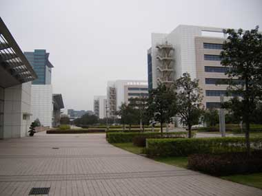 One of many streets on Huawei's premises