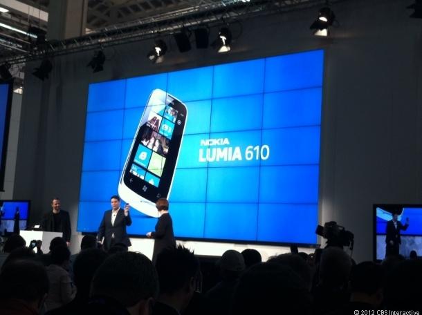 Nokia Lumia 610 launch