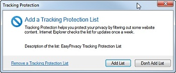 IE9 tracking protection