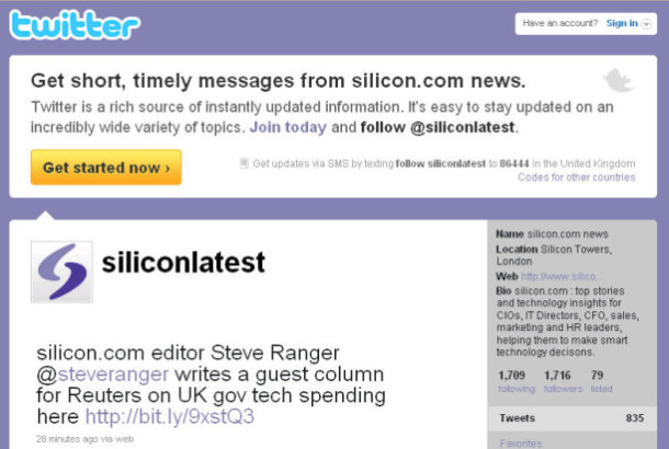 silicon.com is on twitter