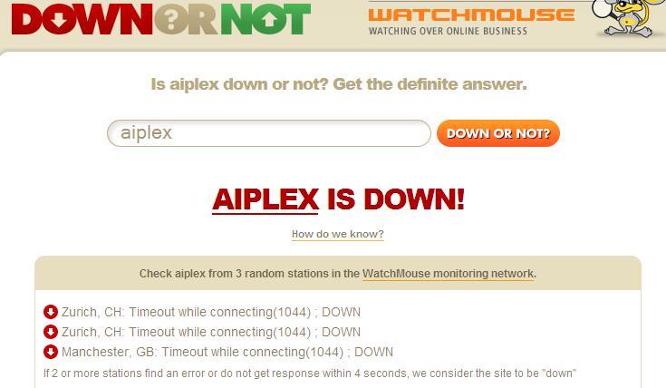 Aiplex is down