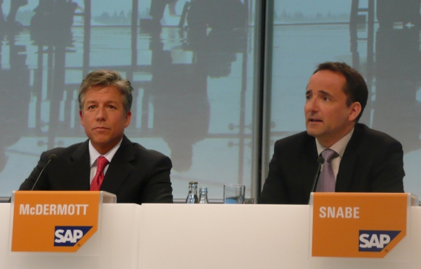 SAP co-CEOs, Bill McDermott and Jim Hagemann Snabe