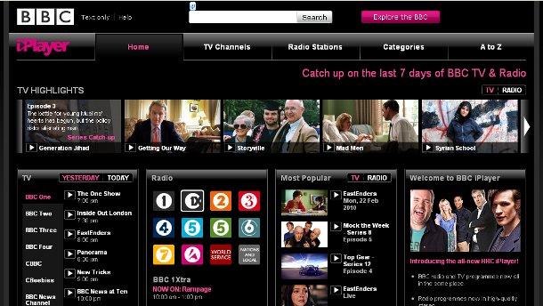 iPlayer homepage Feb 2009