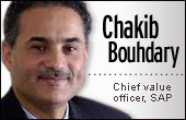 Chakib Bouhdary, SAP chief value officer