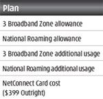 3 NetConnect pricing