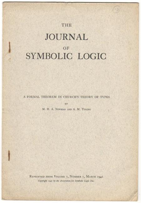 Alan Turing paper