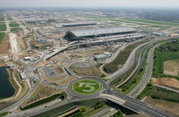 BAA's Heathrow airport with Terminal 5 in the foreground