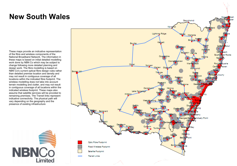 NSW NBN map
