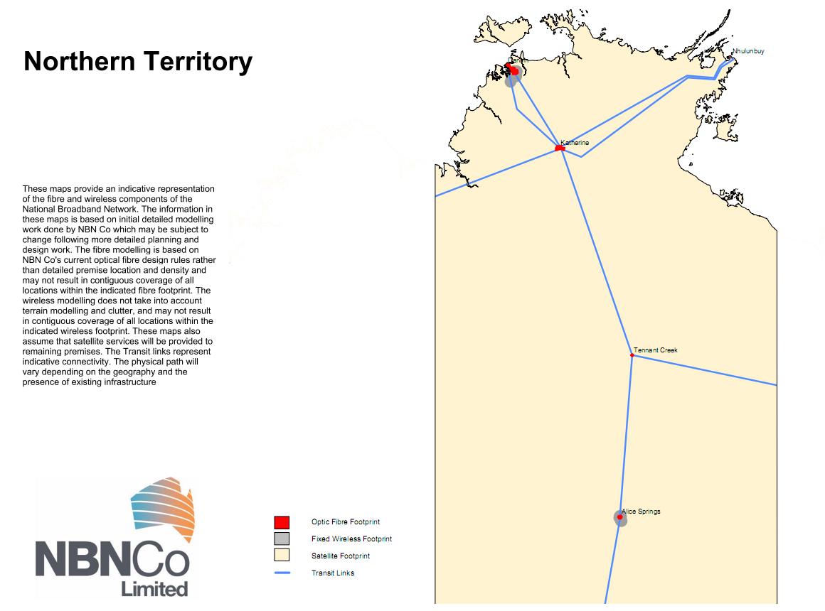 NBN NT Map
