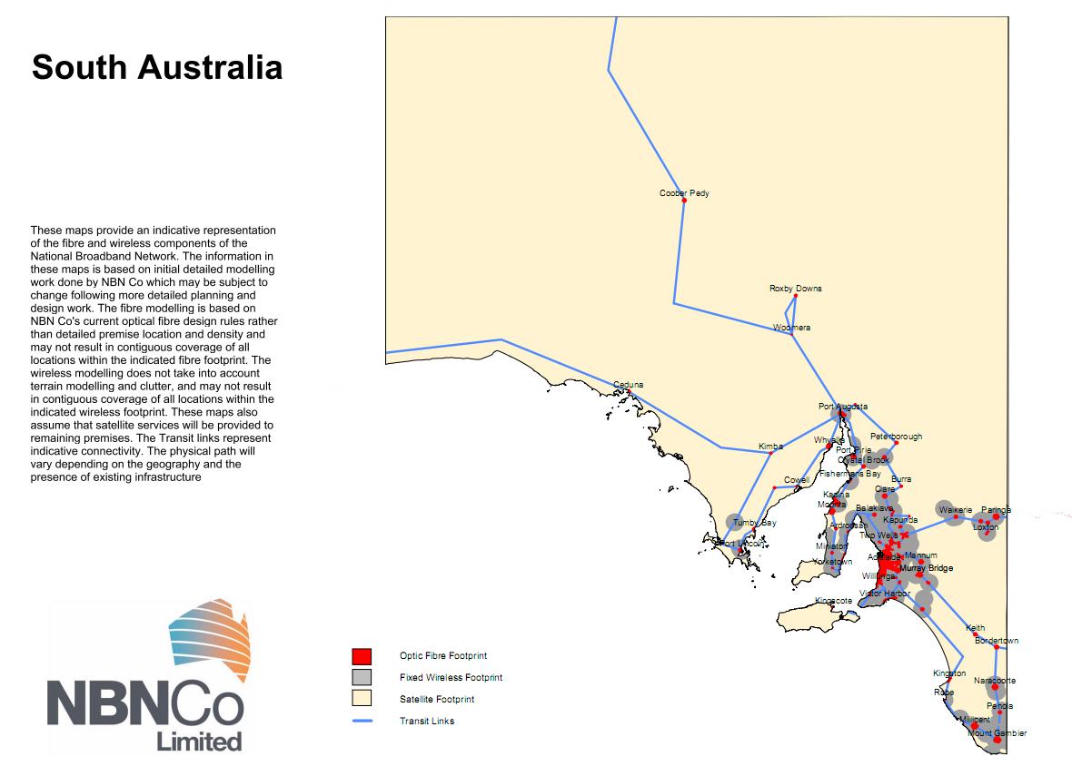 NBN SA Map