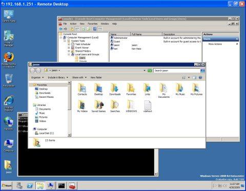 Windows Server 2008 R2 Desktop File Manager