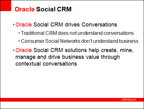 Oracle innovates with Social CRM