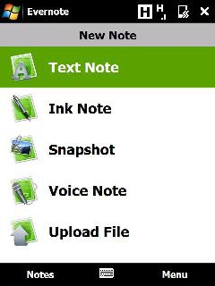 Mobile software Monday: Evernote version 3.0 for Windows Mobile