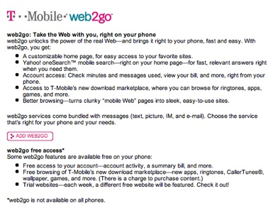 web2go features