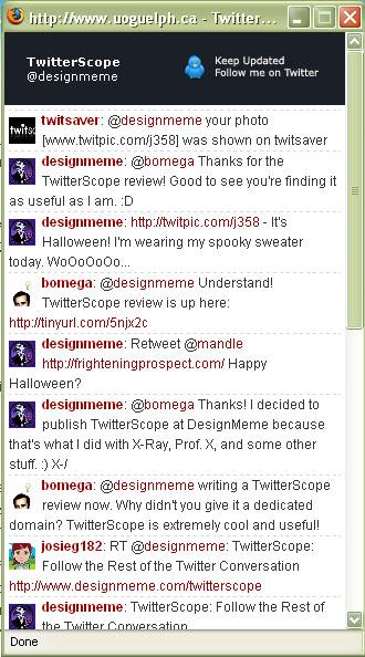 Cool Tools - TwitterScope threads TwitterÂ's tweets