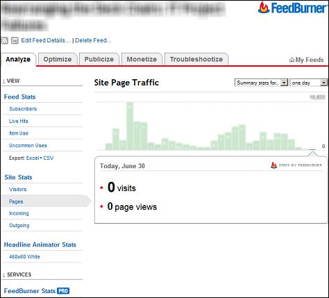 Google FeedBurner stats down