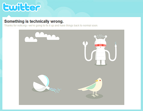 Twitter technical issues