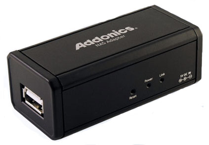 Addonics Network Attached Storage adapter