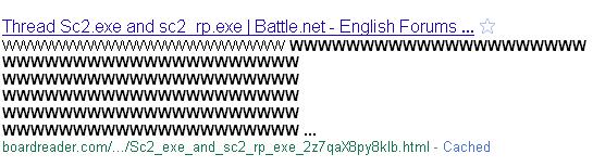 Google ASCII Meta Description