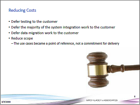 Reducng costs. When Agile fails: Â'Spiraling out of controlÂ'