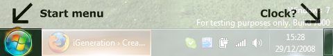 What's going on with the taskbar?