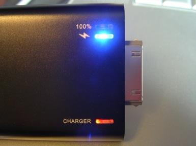 iPhone backup battery indicator lights